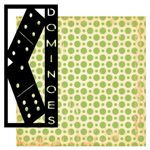 Dominoes Vertical Scrapbook Title