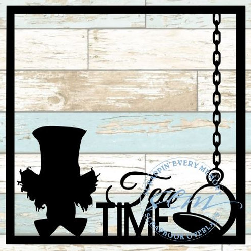 Mad Hatter Tea Time Scrapbook Overlay