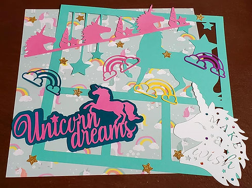 Unicorn Dreams Scrapbook Page Kits