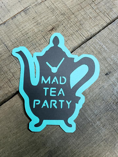 Mad Tea Party Paper Piecing Die Cut