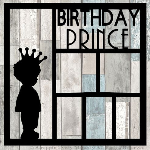 Birthday Prince Scrapbook Overlay