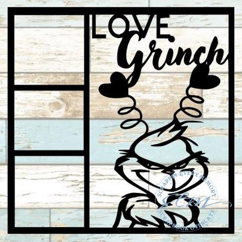 Love Grinch Scrapbook Overlay
