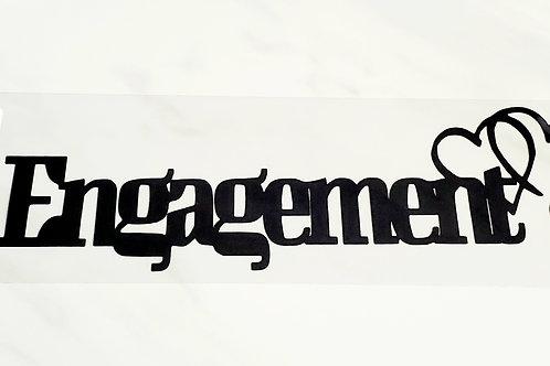 Engagement Scrapbook Deluxe Die Cut