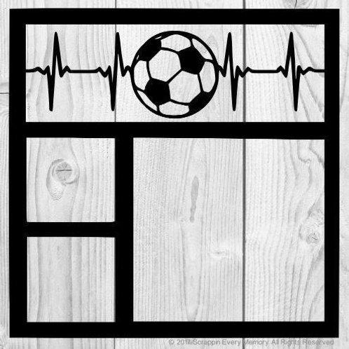 Soccer Heartbeat Scrapbook Overlay