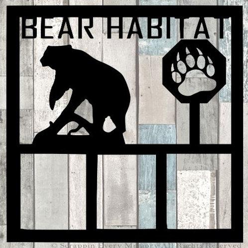 Bear Habitat Scrapbook Overlay