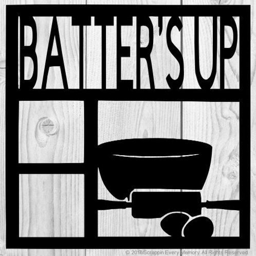 Batter's Up Scrapbook Overlay