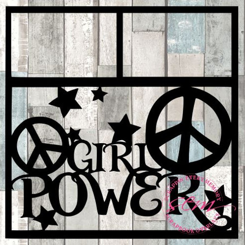 Girl Power Scrapbook Overlay