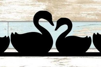 Swans Scrapbook Border