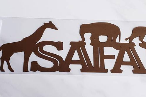 Safari Scrapbook Deluxe Die Cut
