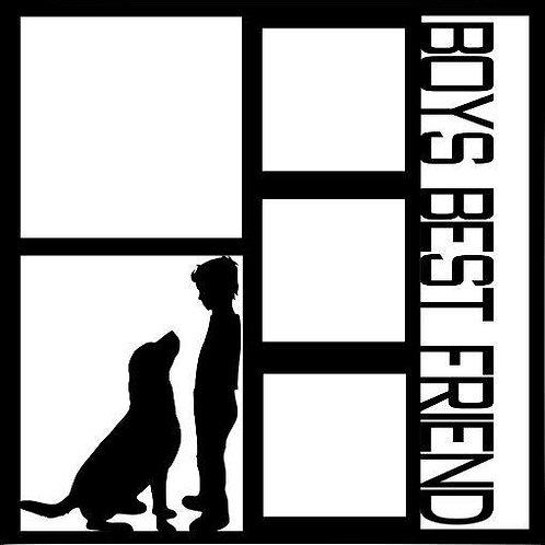 Boys Best Friend Scrapbook Overlay