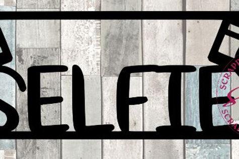 Selfie Scrapbook Title