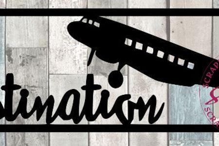 Destination Scrapbook Title