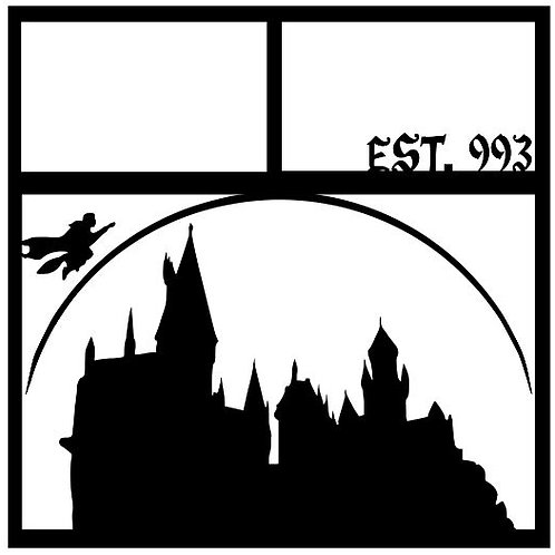Hogwarts EST. 993 Scrapbook Overlay