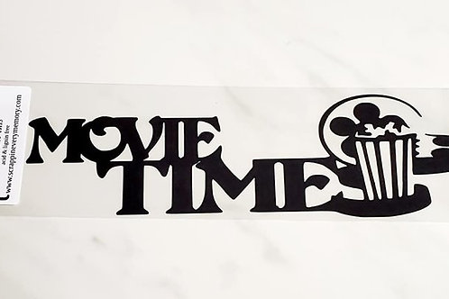 Movie Time Scrapbook Deluxe Die Cut