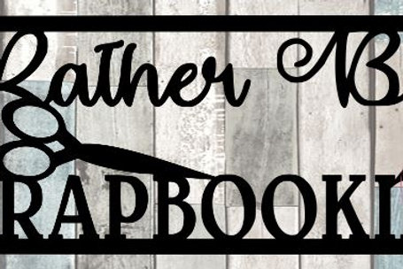Rather Be Scrapbooking Scrapbook Title