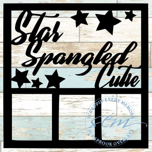 Star Spangled Cutie Scrapbook Overlay