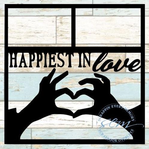 Happiest In Love Scrapbook Overlay