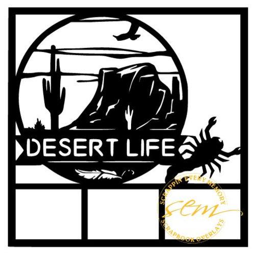 Desert Life Scrapbook Overlay