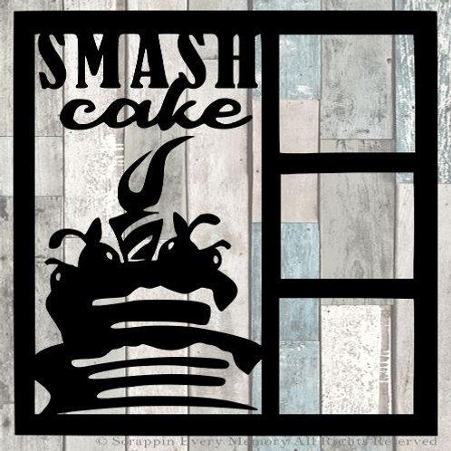 Smash Cake Scrapbook Overlay