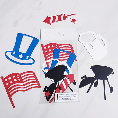 Independence Day Die Cut Silhouette Mini Set