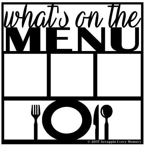 What's On The Menu Scrapbook Overlay