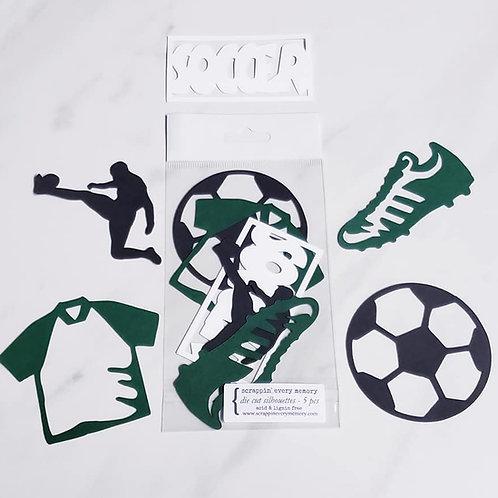 Soccer Die Cut Silhouette Mini Set