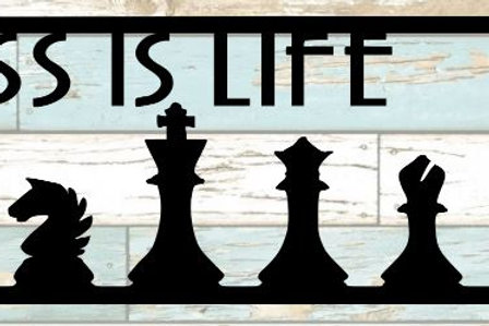 Chess Is Life Scrapbook Title