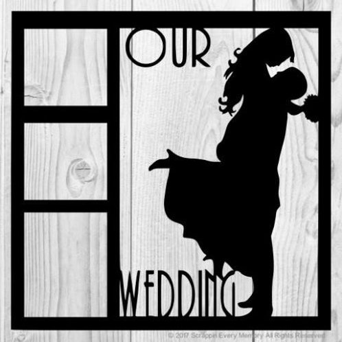 Our Wedding Scrapbook Overlay