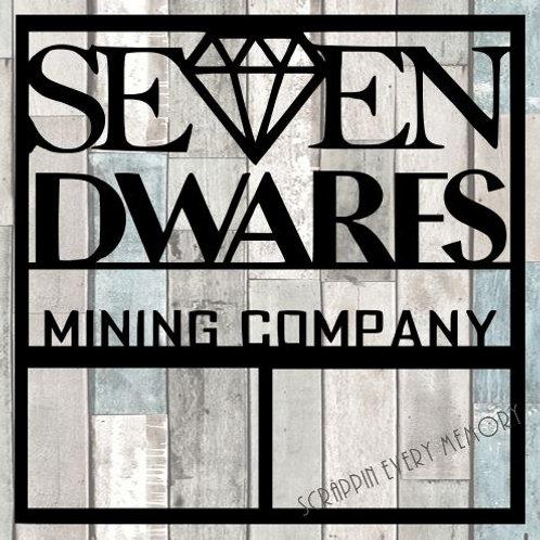 Seven Dwarfs Mining Company Scrapbook Overlay