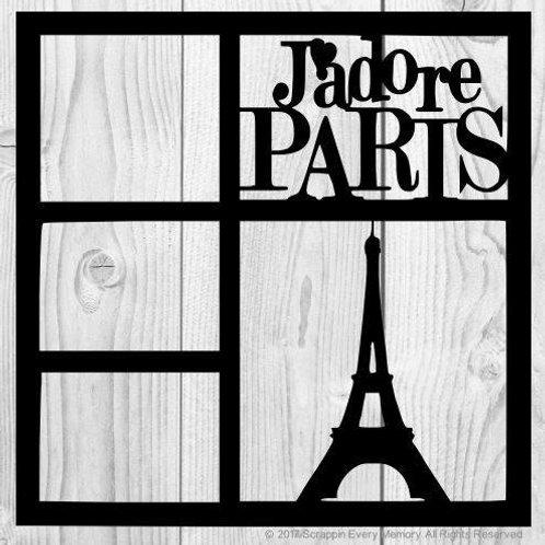 Jadore Paris Scrapbook Overlay