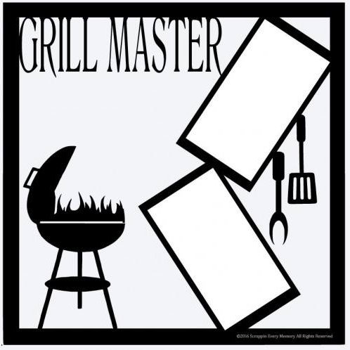 Grill Master Scrapbook Overlay