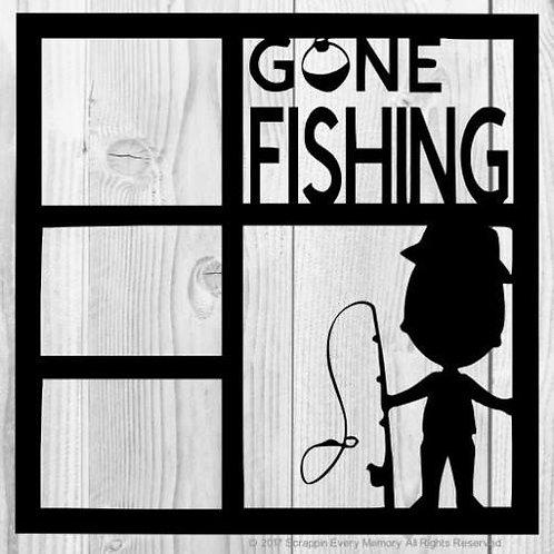 Gone Fishing Scrapbook Overlay
