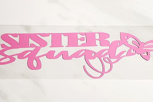 Sister Squad Scrapbook Deluxe Die Cut