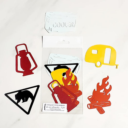 Camping Die Cut Silhouette Mini Set