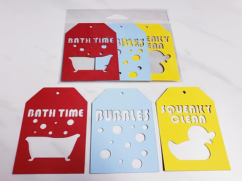 Bath Time Deluxe Word Tags