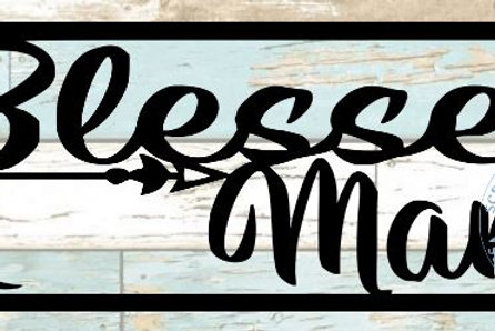 Blessed Mama Scrapbook Title