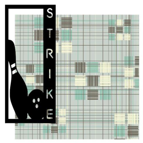 Strike Vertical Scrapbook Title