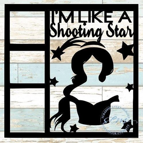I'm Like A Shooting Star Scrapbook Overlay