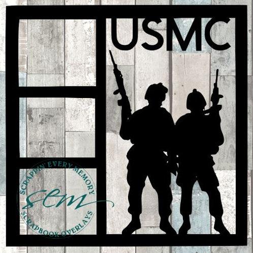 USMC Scrapbook Overlay