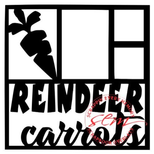Reindeer Carrots Scrapbook Overlay