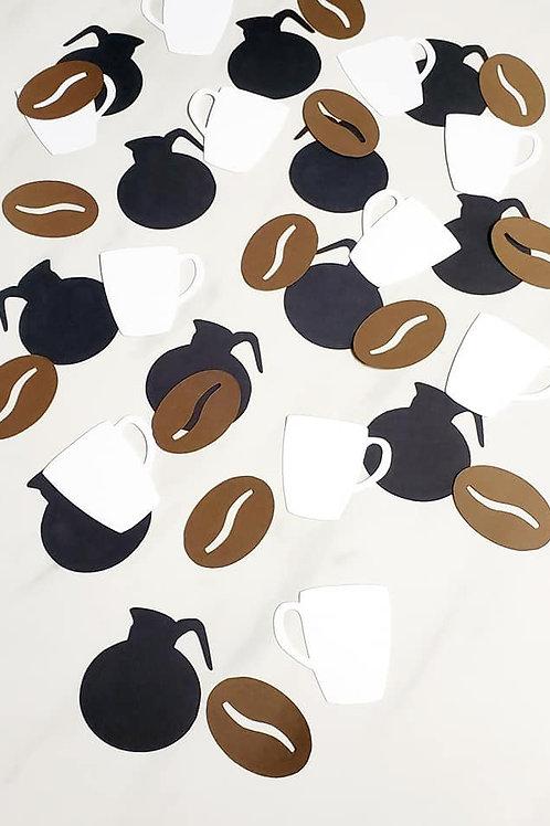 Coffee Theme Scrapbook Page Confetti