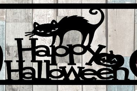 Happy Halloween Scrapbook Title