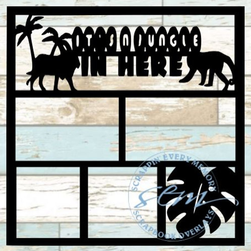 It's A Jungle In Here Scrapbook Overlay