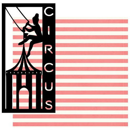 Circus Vertical Scrapbook Title