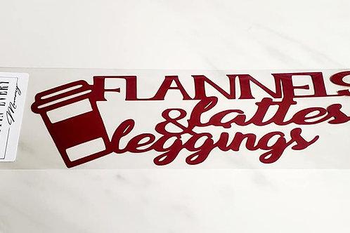 Flannels Lattes and Leggings Scrapbook Deluxe Die Cut