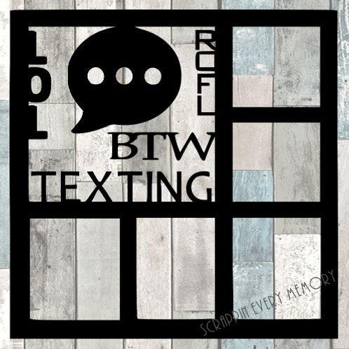Texting Scrapbook Overlay