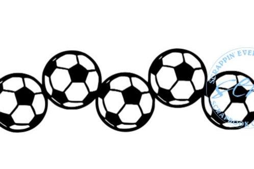 Soccerballs Scrapbook Border