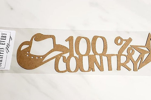 100% Country Scrapbook Deluxe Die Cut