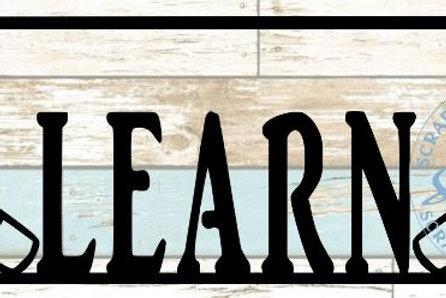 Learn Scrapbook Title