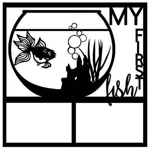 My First Fish Scrapbook Overlay